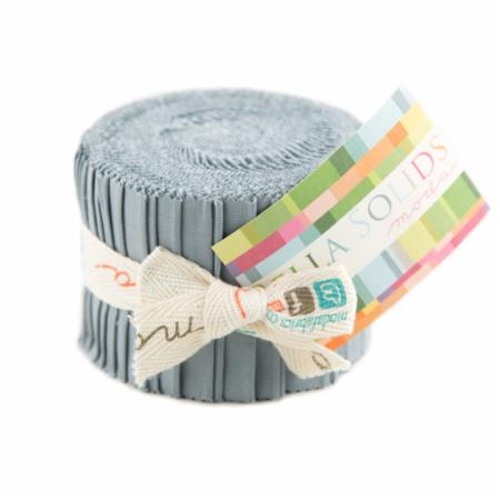 Solids Junior Jelly Roll - Steel 9900 184