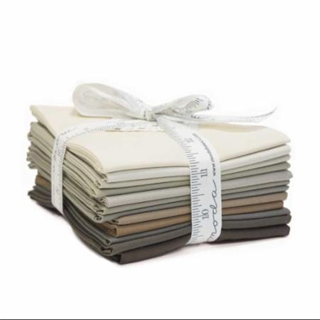 Moda Fat Quarter Bundle - Bella Solids Taupe