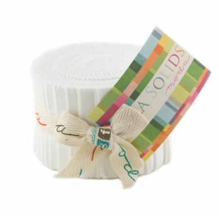 Solids Junior Jelly Roll - White 9900 98
