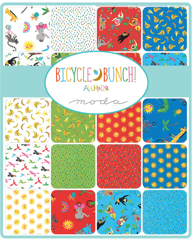 Moda Mini Charm - Bicycle Bunch by Abi Hall