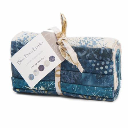 Moda Fat Eighth Bundle - Blue Barn BATIKS by Laundry Basket Quilts