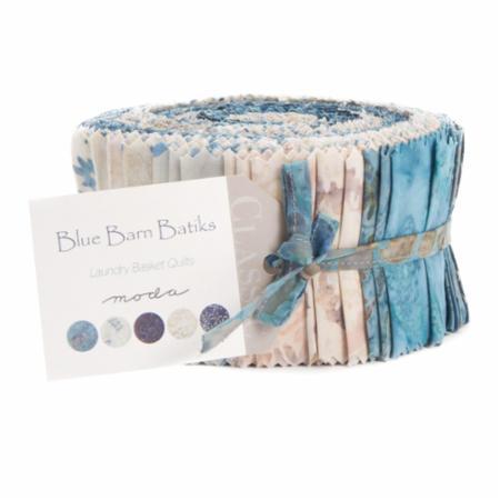 Moda Jelly Roll - Blue Barn BATIKS by Laundry Basket Quilts