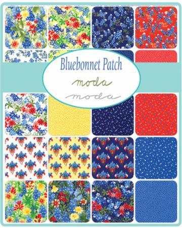 Moda Mini Charm - Bluebonnet Patch by Moda