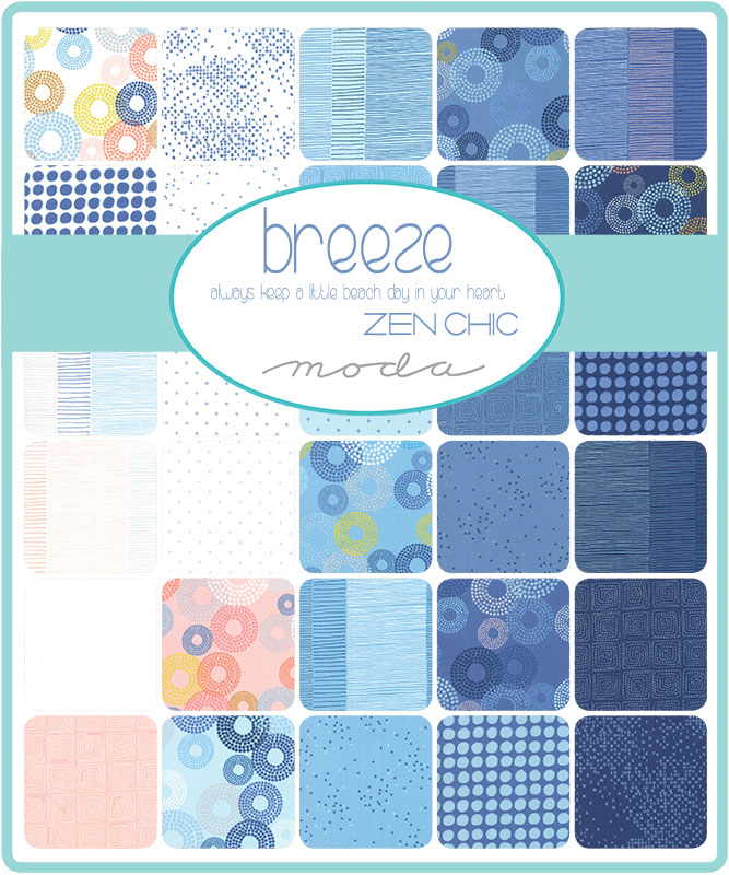 Moda Fat Quarter Bundle - Breeze by Zen Chic