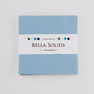 Solids Charm Pack - Bella Solids 30's Blue 9900 25