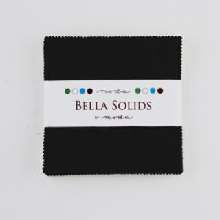 Solids Charm Pack - Bella Solids Black 9900 99