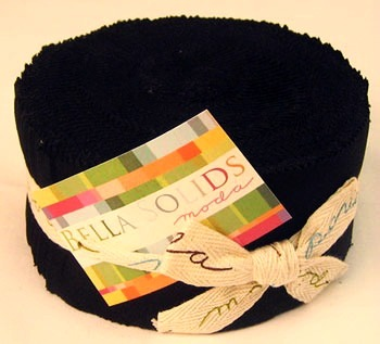 Moda Bella Solids Jelly Roll - Black (9900-99)