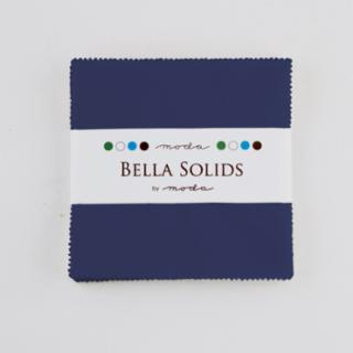 Solids Charm Pack - Bella Solids Blue 9900 48