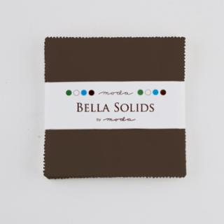 Solids Charm Pack - Bella Solids Brown 9900 71