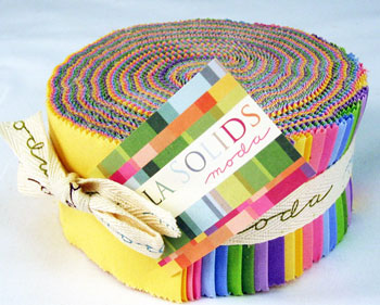 Moda Bella Solids Jelly Roll - Colors