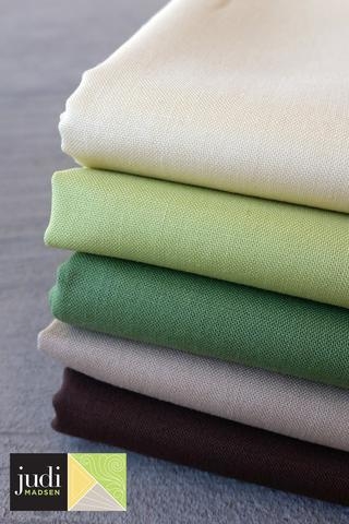 Forest Bella Solids Fabric Bundle