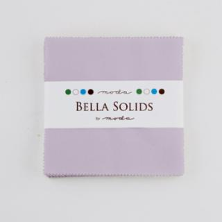 Solids Charm Pack - Bella Solids Lilac 9900 66