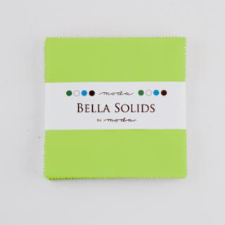 Solids Charm Pack - Bella Solids Lime 9900 75