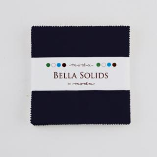 Solids Charm Pack - Bella Solids Navy 9900 20