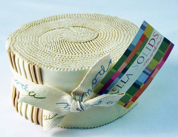 Moda Bella Solids Jelly Roll - Neutral (9900-21)