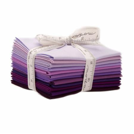 Moda Fat Quarter Bundle - Bella Solids Purple