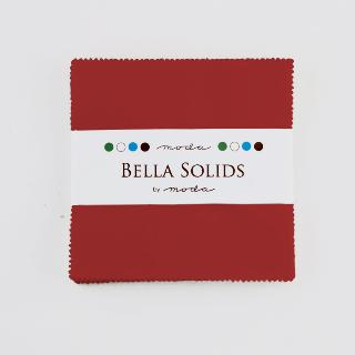 Solids Charm Pack - Bella Solids Red 9900 16