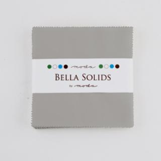 Solids Charm Pack - Bella Solids Silver 9900 183