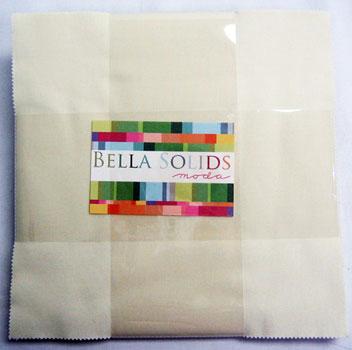 Moda Bella Solids Layer Cake - Snow (9900-11)