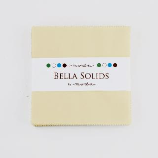 Solids Charm Pack - Bella Solids Snow 9900 11