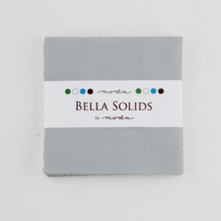 Solids Charm Pack - Bella Solids Steel 9900 184