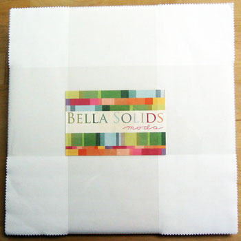 Moda Bella Solids Layer Cake - White (9900-98)