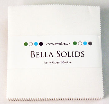Solids Charm Pack - Bella Solids White 9900 98