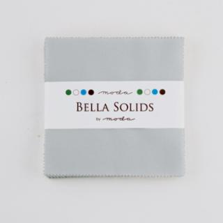 Solids Charm Pack - Bella Solids Zen Grey 9900 185