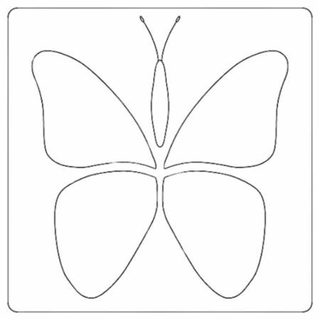 Butterfly Stencil by Laundry Basket Quilts