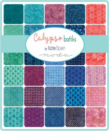 Moda Fat Eighth Bundle - Calypso Batiks by Kate Spain