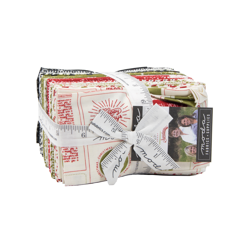 Moda Fat Eighth Bundle - The Christmas Card by Sweetwater