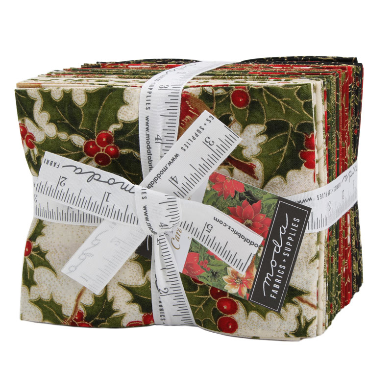 Moda Fat Quarter Bundle - Cardinal Song Metallic by Moda