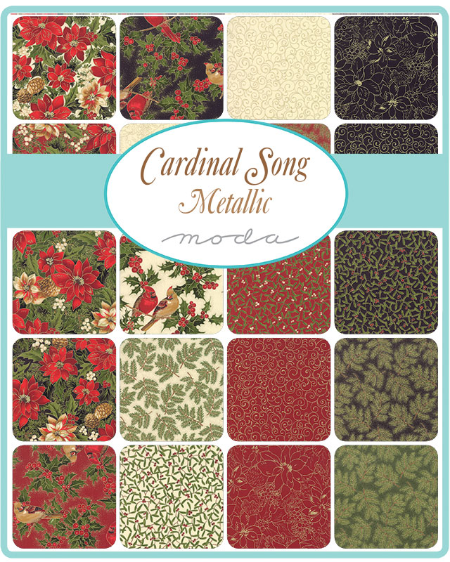 June/19 - Cardinal Song Metallic Charm Pack
