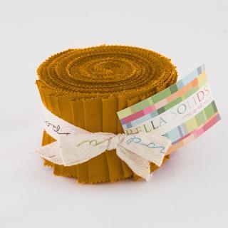Moda Bella Solids Junior Jelly Roll - Cheddar 9900 152