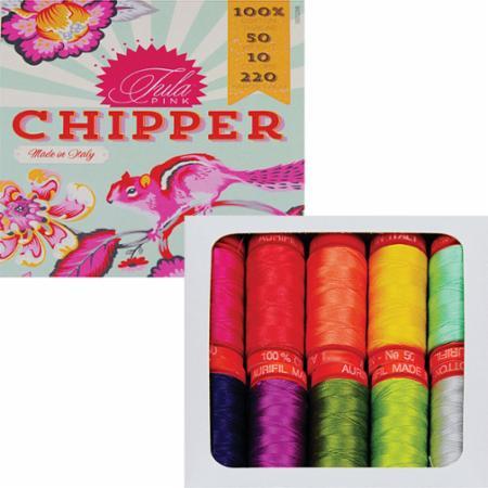 Chipper 50wt By Tula Pink Aurifil 10 Small Spools