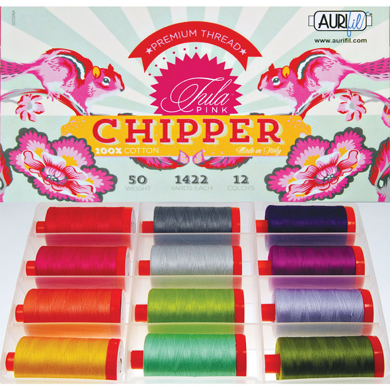 Chipper By Tula Pink Aurifil Large Spools