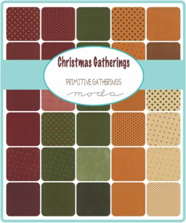 Moda Charm Pack - Christmas Gatherings by Primitive Gatherings