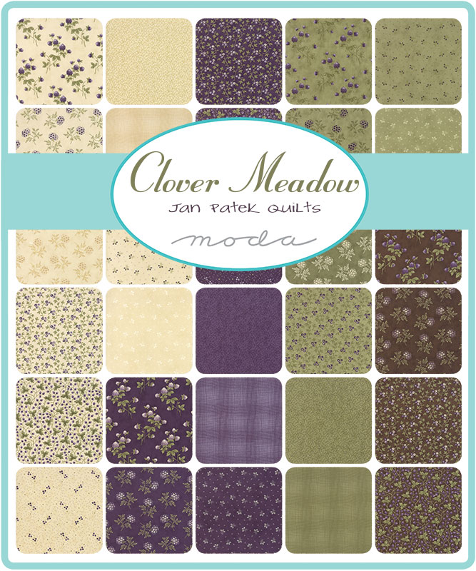 Moda Fat Eighth Bundle - Clover Meadow by Jan Patek