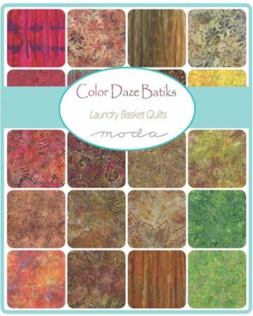 Moda Layer Cake - Color Daze BATIKS by Laundry Basket Quilts