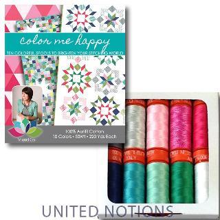 Color Me Happy 50wt Aurifil 10 Spools