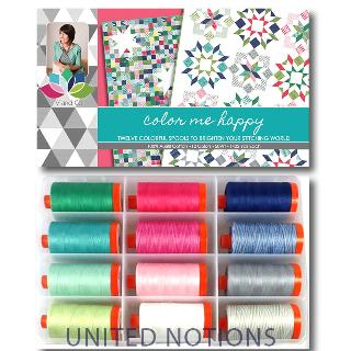 Color Me Happy 50wt Aurifil 12 Large Spools