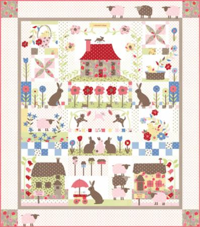 Moda Quilt Kit - Cottontail Cottage
