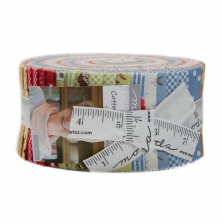 Moda Jelly Roll - Cottontail Cottage by Bunny Hill Designs