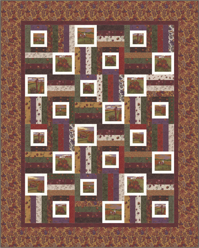 Moda Quilt Kit - Country Charm by Holly Taylor