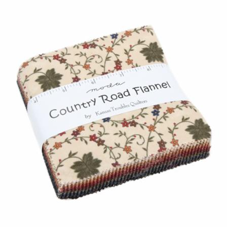 Moda Charm Pack - Country Road Flannels by Kansas Troubles