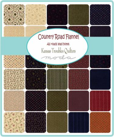 Moda Fat Eighth Bundle - Country Road Flannels by Kansas Troubles