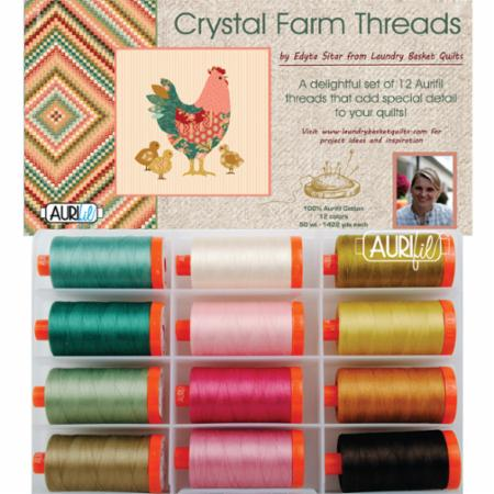Crystal Farm By Edyta Sitar 50wt Aurifil
