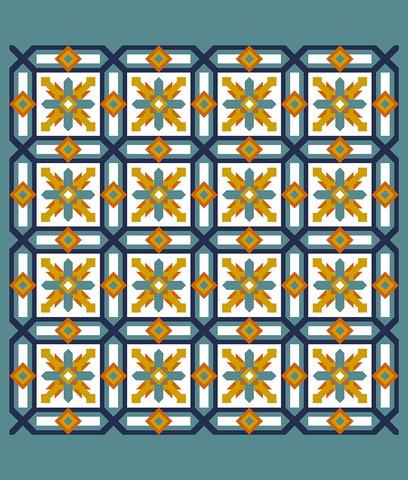 Printed Quilt Kit Panel - Cypress CITRUS