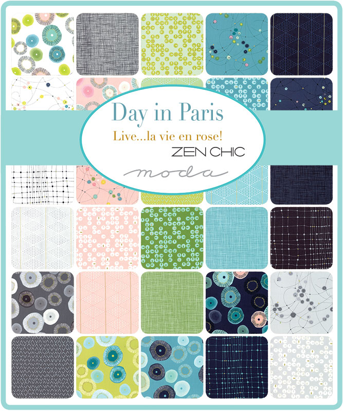 April/19 - Day In Paris Charm Pack
