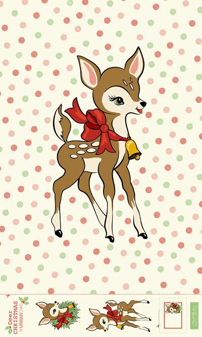 June/20 - Deer Christmas Digital Panel